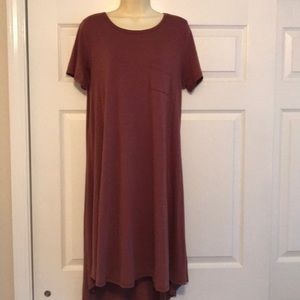 BNWOT Red & Grey Heathered Carly Dress